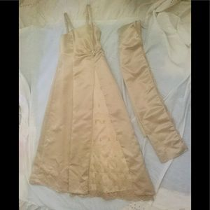 Girls formal with shawl size 13/14